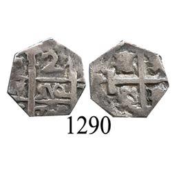 Barinas, Venezuela?, imitation cob 2 reales, (1)782?
