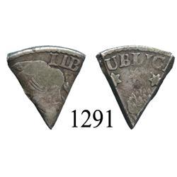 West Indies?, Contemporary 1/6 cut of a Potosí, Bolivia (Republic) 4 soles, 1800s.