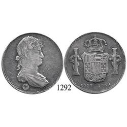 Bogotá, Colombia, silver 8 reales medal struck in 1938 for the 400th anniversary of the city from di