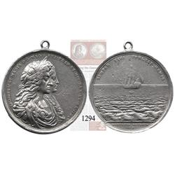Great Britain, James II, silver medal commemorating the salvage of the Concepción by William Phips i