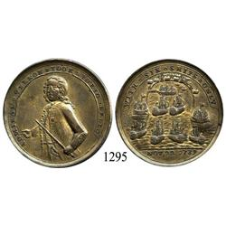 "Great Britain, brass ""Admiral Vernon"" medal, 1739, Porto Bello (Panama)."