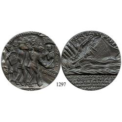 Great Britain, steel restrike of a German propaganda medal commemorating the sinking of the Lusitani