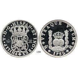"""Mexico City, Mexico, 12-oz proof """"pillar dollar"""" medal in .999 silver, 1988."""