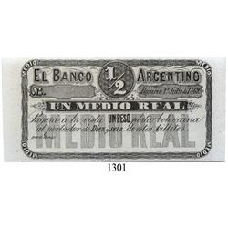 Argentina, ½ real, 1869.