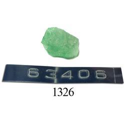 Natural emerald (1.02 carats).