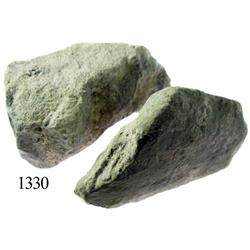 Lot of 2 ballast stone pieces.