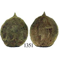 Bronze religious medallion, rare.