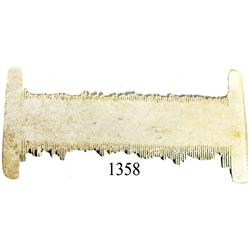 Ivory lice comb found by Art McKee.