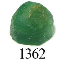 Domed octagonal-cut emerald, 2.15 carats, rare.
