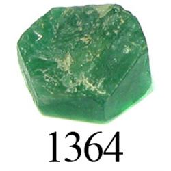 High-quality natural emerald crystal (octagonal), 1.25 carats.
