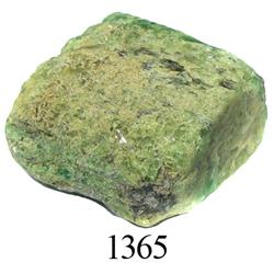 Crude natural emerald (large, 34 carats).
