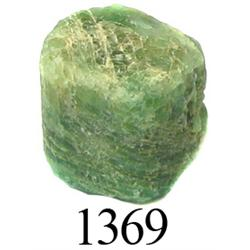 Crude natural emerald (small, 6.6 carats).