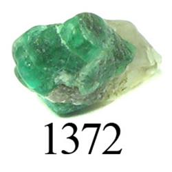 Crude natural emerald (small, 2.7 carats).