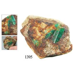 Natural emerald matrix.