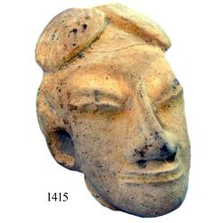 Pre-Columbian clay head, perfectly intact.