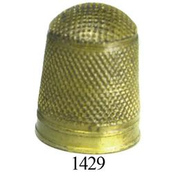 Large brass sailmaker's thimble in choice condition.