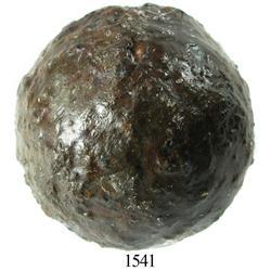 Medium iron cannonball.