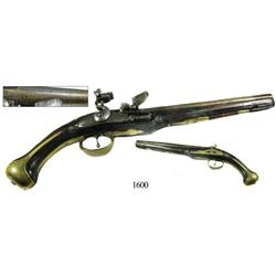 Flintlock pistol, probably Greek, 1790s-early 1800s.