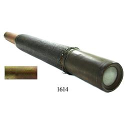 Civil War-era brass mariner's telescope (1860s).