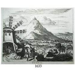 Early 18th-century Dutch engraving of the mountain of Potosí.