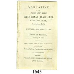 Narrative of the Loss of the General Barker (London, 1781).