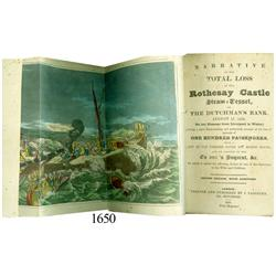 Narrative of the Total Loss of the Rothesay Castle (London, 1831, 2nd edition).
