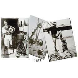 Lot of 3 black-and-white photos of Art McKee.