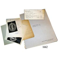 Contracts, financial statements and correspondence concerning Doubloon Salvage and the Real Eight Co