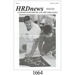 HRDNews periodical, Vol. 4, #3, with article about gold finds from 1993.