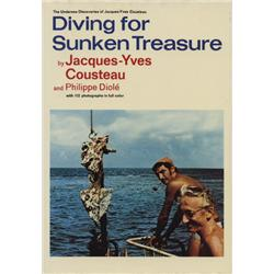 Cousteau, Jacques-Yves. Diving for Sunken Treasure (1971, HB/DJ, VF).