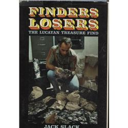 Slack, Jack. Finders Losers (1967, HB/DJ, VG).