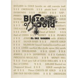 Woods, Dee. Blaze of Gold (1972, HB/DJ, mint).