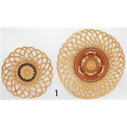 TWO HUPA BASKETRY TRAYS