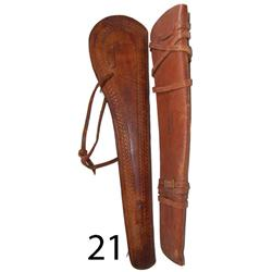 TWO RIFLE SCABBARDS