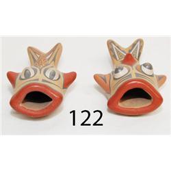 TWO SANTA CLARA POTTERY FISH