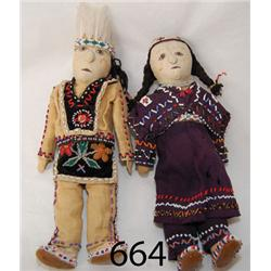 PAIR OF IROQUOIS DOLLS