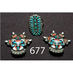 ZUNI EARRING AND RING