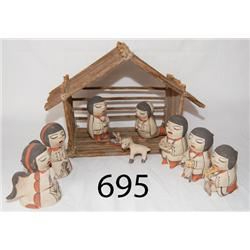 COCHITI POTTERY NATIVITY SCENE