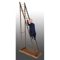 French Vichy Climbing Firefighter Toy.