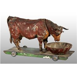 Tin Hand-Painted Bull Platform Wind-Up Toy.