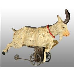 Tin Hand-Painted Goat Wind-Up Toy.
