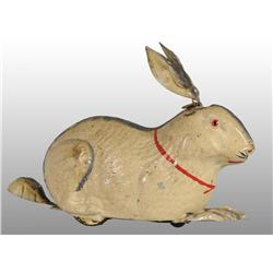 Tin Hand-Painted Rabbit Wind-Up Toy.