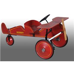 Wooden Gendron Scout Pedal Plane.