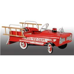 Pressed Steel AMF Fire Truck Pedal Car.