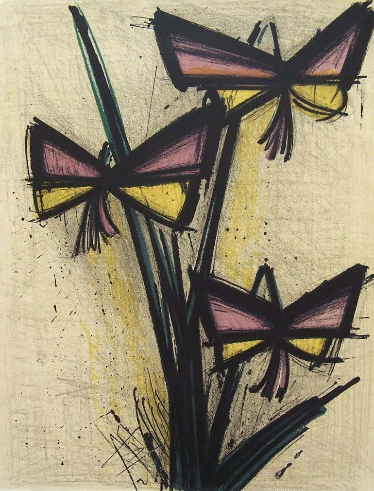 Tremendous Bernard Buffet Litho French Flowers 1966 Download Free Architecture Designs Sospemadebymaigaardcom