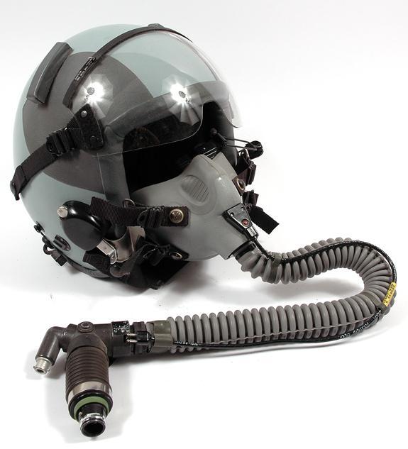 USAF, HGU-55/P Helmet (CE) with MBU-12/P Oxygen Mask