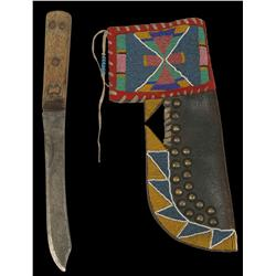 Crow Knife Case with Knife