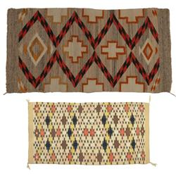 Pair of Navajo Weavings