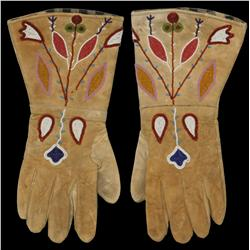 Crow Indian Beaded Gauntlets