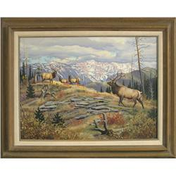 Elmer Sprunger oil on canvas